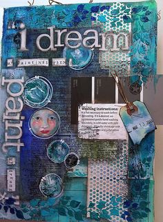 I love the monochromatic aspect of this one. (Paint the Dream (c) Susie King 2012 mixed media art journal)