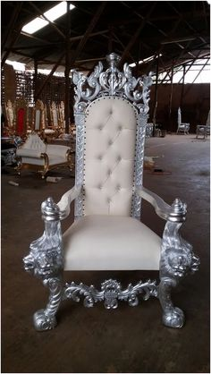 Silver Wedding Throne