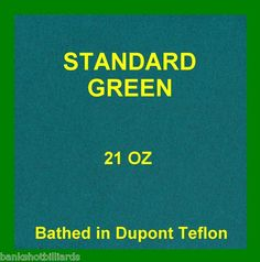 Teflon Billiard 9' Green Pool Table Felt Cloth Fabric 21 Oz | eBay $102