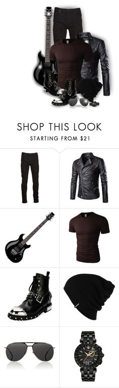 """""""Rock star!"""" by asia-12 ❤ liked on Polyvore featuring Marcelo Burlon, Floyd, LE3NO, Alexander McQueen, Patagonia, Christian Dior, Versace, men's fashion and menswear"""