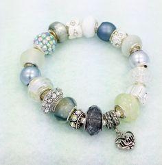 porcelain mauve flower european style bead by 250 pandora pinterest european style beads and style