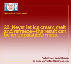 Easy Home Meals is your one-stop solution for easy meal recipes, ideas, and helpful tips to make meal planning simple. Ice Cream Facts, Ice Cream Novelties, National Ice Cream Month, Home Meals, Mug Recipes, Ice Cream Recipes, Sorbet, Helpful Hints, Meal Planning