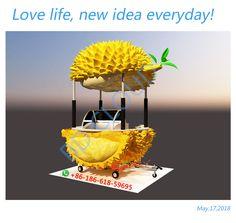 customized durian food cart Food Trailer, Old Trees, Food Carts, Thai Style, Mini Foods, Food Trucks, Booth Design, Kiwi, Street Food