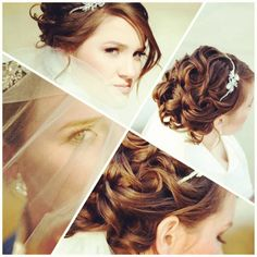 Bridal up do. Pretty hair. Makeup