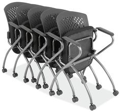 Whether you are outfitting an auditorium, dining room or class room, these chairs are the ideal solution for your folding or stacking chair needs.