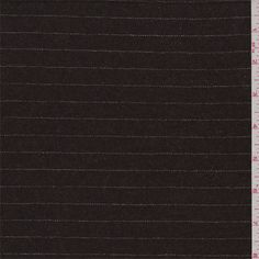 Mahogany Brown Stripe Wool Suiting - 39779   Discount By The Yard   Fashion Fabrics