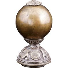IMAGES OF CHINESE HAT FINIALS | Chinese mandarin brass bead hat finial 19th century from bearraven on ...