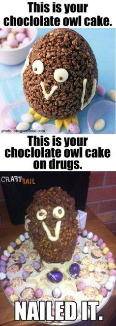owl cake #nailed it