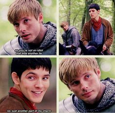 This was so sad. To see Arthur, betrayed and hurt but at the same time trying to hold on to the friend he knew. At the same time, Merlin is hurting just as badly and feeling just as betrayed as his friend says the cruelest things, things that never hurt before because he was only joking. It was incredible and heartbreaking to see them rebuild their former relationship so close to the end.