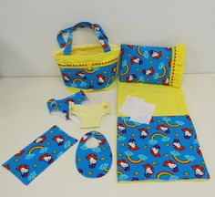 Hello Kitty Showers Diaper Bag and Diapers with by cupcakecutiepie