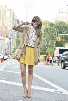 #fashion #fashionista Nicoletta marrone fantasia giallo Scent of Obsession - fashion blogger: First day in New York - NYFW S/S 2013