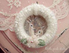 Vintage curtain ring ornaments, via Flickr.