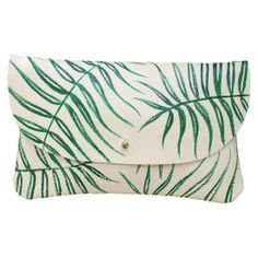 Wild Fern Leather Clutch - Hand Painted from Jessica Kertis - Hunters Alley