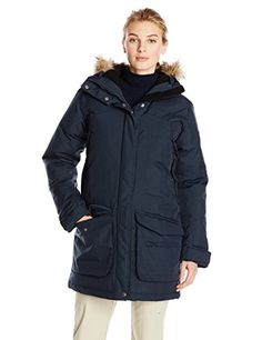 Fjallraven Womens Kyla Parka Dark navy Large * Click on the image for additional details. (This is an affiliate link)