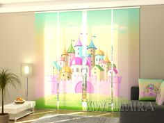 Spectacular Set of Panel Curtains Pink Castle Wellmira ModernCurtains PanelCurtains Curtains