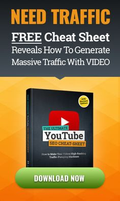 FREE Youtube SEO Cheat sheet for Ranking Videos; Fast Video Creation Software,Video Marketing,Traffic Generation. Build trust and turn your prospect into loyal customers with an impressive video presentation  #videomarketing #video #marketingdigital #marketing #socialmedia