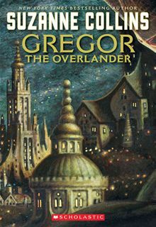 The first book of the Underland Chronicles #1: Gregor the Overlander by Suzanne Collins. I'm currently reading book five of this series to my son every night: The Code of Claw.