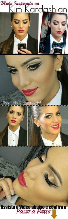 "Make olho tudo e boca tudo ""Kim Kardashian"" inspired! - http://supervaidosa.com/2012/01/27/make-inspirada-na-kim-kardashian/#"