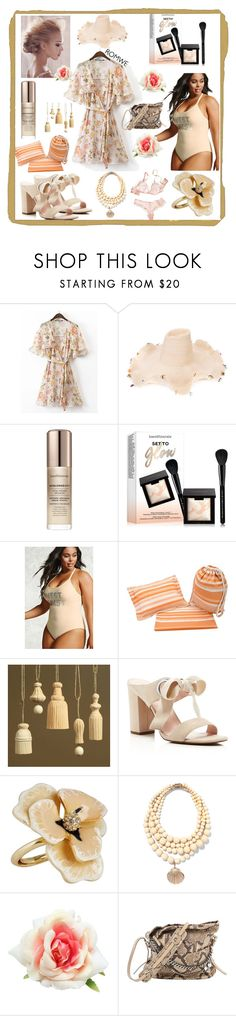 """uber girly"" by caroline-buster-brown ❤ liked on Polyvore featuring Rosie Assoulin, Bare Escentuals, Forever 21, George J. Love, HomArt, Avec Les Filles, Kenneth Jay Lane, Rosantica and Jimmy Choo"