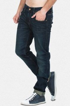 Slim Fit Deep Blue Denim Jeans  These cool and versatile pair of blue denims is a trendy inclusion to your denim collection.  Deep blue denim jeans. Slim fit. Mid-rise waist. Flat whiskers. Two side pockets, two back pockets with cut and sew detailing and a coin pocket. Branded rivets and a button. A perfect pick for most casual occasions, these jeans go well with printed tees or casual shirts.  Buy Here: http://zovi.com/slim-fit-deep-blue-denim-jeans--10795700801