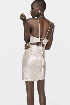 Image 6 of SEQUIN DRESS from Zara Zara Outfit, How To Look Better, That Look, Trends, Zara United States, The Dress, Sequin Dress, Dark Skin, Sequins