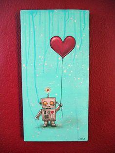 My little robot painting... http://www.lovepaperpaint.com /  www.eitak.com