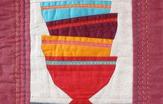 Chili Bowls mini quilt by pieceful life