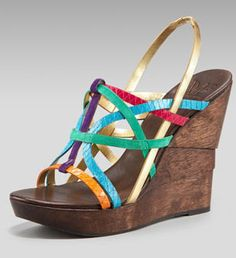 dvf colorful wedge