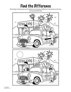 My Delicious Ambiguity: Road Trip Printables For Kids Road Trip Activities, Road Trip Games, Learning Activities, Spot The Difference Printable, Hidden Pictures, Printable Activities For Kids, Picture Puzzles, Puzzles For Kids, Disney Trips