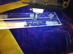 Using rulers on a domestic machine for free-motion quilting source:  Patsy Thompson Designs