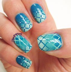 Blue Me Away - Rite Aid Nail Art Entry Please vote at http://www.riteaidnails.com/entry/blue-me-away/