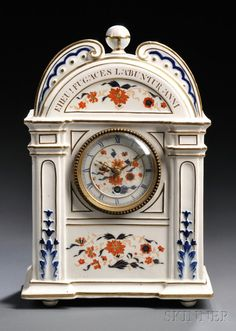 Wedgwood Queen's Ware Mantel Clock