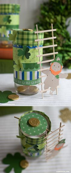 St Patrick's Day Crafts - Leprechaun Trap at www.LiaGriffith.com