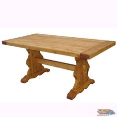 Grande Table Monastère en Pin Massif Plateau Épais | meublespin.fr Rustic Furniture, Dining Table, Cabin, Home Decor, Solid Pine, Tray, Atelier, Dining Room Table, Decoration Home