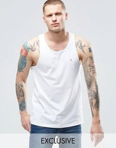 Farah Vest With F Logo Exclusive In White £18.00 @ Asos