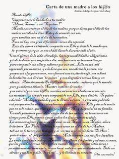 esmeraldapoesia: Carta de una madre a los hijos...de Idelys Izquierdo Laboy