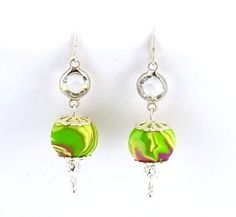 These bright earrings are super easy to make and beautiful to wear!