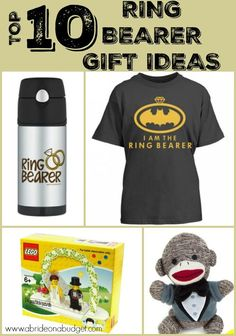 Need to get a gift for a ring bearer? Check out this top 10 ring bearer gift ides post from www.abrideonabudget.com.