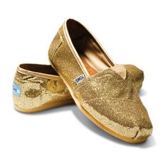 Gold Sparkly Toms!