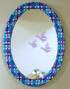 DIY project: decoupage mirror frame