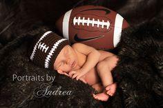 Newborn Football Hat Baby Boy  Crochet  Newborn by MeToYouCrochet, $14.00