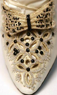 1890 Beaded Wedding Shoe