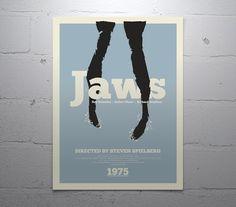 "JAWS - movie poster: 12x16"" fine art print"
