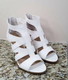 bed83c75bbe5 Simply Vera Vera Wang white heel sandals 7.5 M  SimplyVeraVeraWang   Heelsandals White By Vera