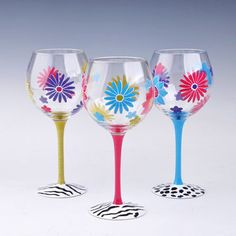 painting on wine glasses - Google Search