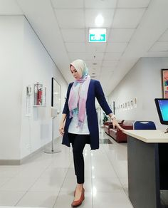 Casual friday with rainbow hijab