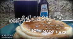 Homemade-fake Maple Syrup Recipe