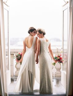 Same-sex wedding | Kristin La Voie Photography | see more on: http://burnettsboards.com/2015/08/chicago-symphony-orchestra-elopement/                                                                                                                                                                                 More