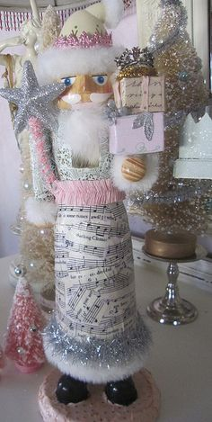 decoupaged santa nutcracker