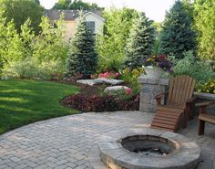 Be realistic about maintenance.  LOVE the huge stones piled for affect & filler. #PatioLandscaping